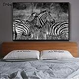 KWzEQ Imprimir en Lienzo Imagen de Arte de onhomewall Moderno Animal de cebra80x120cmPintura sin Marco