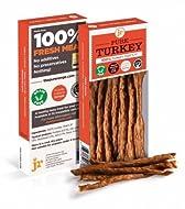 J R Pet Products 3 x 50g Pure Dried 100% Fresh Meat Sticks Dog Treat Gluten & Grain Free - TURKEY
