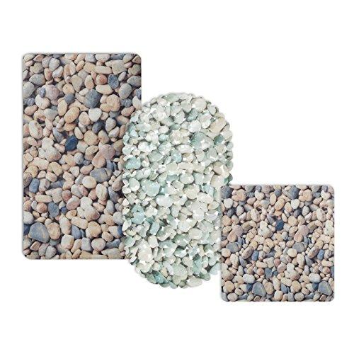 casa pura® Wanneneinlage Stone | Steinoptik | schadstoffgeprüft | als Badewanneneinlage und Duschmatte erhältlich | 3 Größen | rechteckig (69x40 cm)