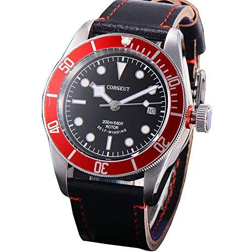 Corgeut Orologio da uomo analogico con vetro zaffiro nero a scelta orologio...