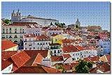 BZAHW 1000pcs Puzzle Rompecabezas Rompecabezas para Adultos Portugal Alfama Lisboa Especiales Regalo para niño de Ejercicio Cerebral