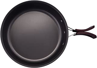 Aneil Outdoor Frying Pan with Folding Handle High Strength Oxidation Pot Camping Cooking Picnic Backpack Cookware