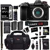 Panasonic Lumix G9 Mirrorless Camera Body 20.3 MP G9KBODY, Lexar 64GB High Speed SD Card U3, Monopod, Spare...