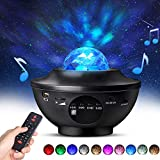 Night Light Projector with Timer & Remote Control, Monkey Home 2 in 1 Ocean Wave Projector Star Projector with...