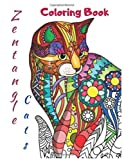 Zentangle Cats Coloring Book: Adult & kids Coloring Book for Cat Lovers
