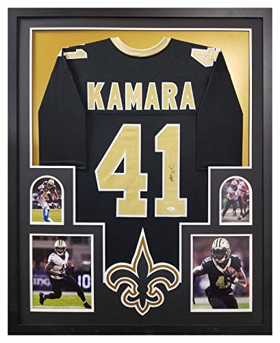 Alvin Kamara New Orleans Saints Signed Autograph Custom FRAMED Black Custom Jersey JSA Witnessed Certified