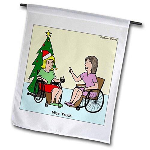 3dRose FL_2818_1 Gartenflagge für Rollstuhl, 30,5 x 45,7 cm