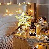 VersionTECH. Stella per Albero di Natale Puntale Albero Stella con Illuminazione Luci LED, Accessori Albero di Natale, Punta per Albero di Natale, Luce bianca calda