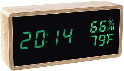 Foru-1 - Reloj Despertador con Control de Sonido de inducción, LED, Madera