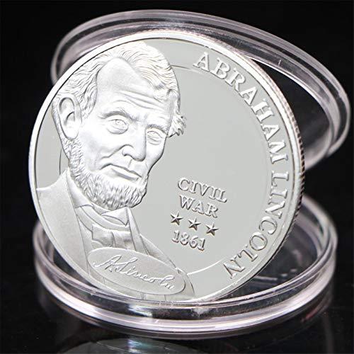Heqing US Abraham Lincoln Guerra Civil 1861 Monedas de Recuerdo Colección de Monedas chapadas en Plata s