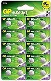 GP - Pack de 20 Pilas LR44 alcalinas de botón - Pilas A76 / AG13 / 357 / GP76A / SR44W 1,5V | Ideales para Relojes, calculadoras, Juguetes, linternas, Luces nocturnas, etc