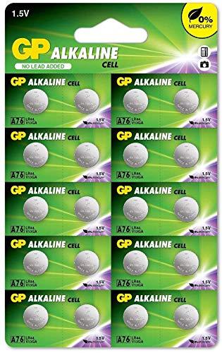 LR44 - Set da 20 | GP Extra | Batterie a Bottone Alcaline da 1,5V LR 44 / A76 - Lunga Durata