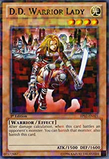 Yu-Gi-Oh! - D.D. Warrior Lady (BP02-EN021) - Battle Pack 2: War of the Giants - Unlimited Edition - Mosaic Rare