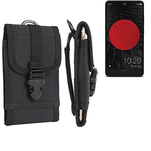 K-S-Trade Handyhülle Für Sharp Aquos C10 Gürteltasche Holster Handytasche Gürtel Tasche Schutzhülle Robuste Handy Schutz Hülle Tasche Outdoor Schwarz