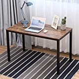 Writing Computer Desk Modern, Bonzy Home Computer Desk 47.2' for Home Office, Sturdy Writing Desk Study Table Gaming Table (Brown)