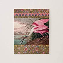 PotteLove Audubon Roseate Spoonbill Bird Vintage Print Jigsaw Puzzle 1000 Pieces for Adults, Entertainment DIY Toys for Creative Gift Home Decor