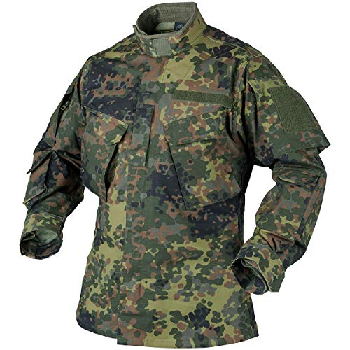 Helikon-Tex CPU Jacke Shirt - Polycotton Ripstop - Flecktarn, Flecktarn, M