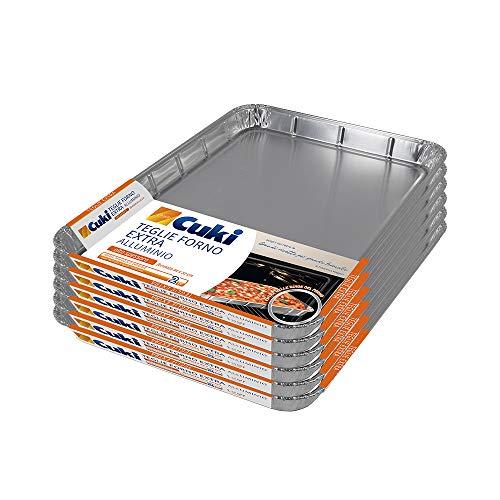 Cuki Teglie Extra Alluminio - Alto Spessore - 16 Porzioni - Rettangolari [R4432] - 6 Confezioni Da 2 Pezzi - 920 g