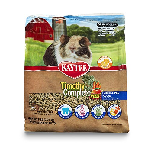 Kaytee Timothy Hay Complete Plus Fruits and Vegetables Guinea Pig Food, 5-lb bag