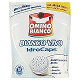 Omino Bianco Additivo Lavatrice Bianco Vivo Idrocaps, Capsule Idrosolubili per Bucato, Azione Sbiancate e Smacchiante, 1 Confezione x 12 Caps