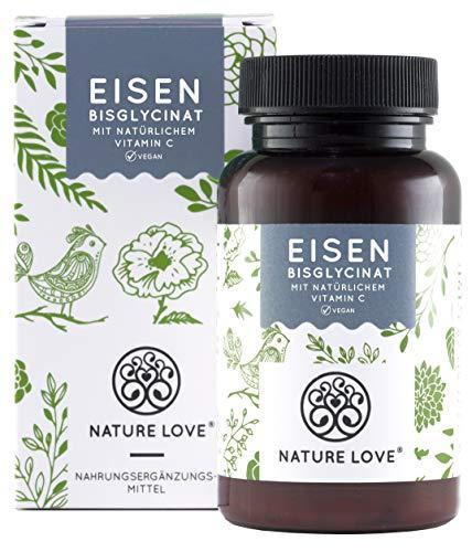 Eisen - Doppelt-dosiert mit 40mg Eisen je EINER Tablette. Plus 40mg natürliches Vitamin C. Premium:...