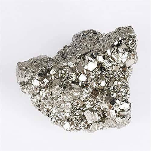 YSJJEFB Cristales curativos 500 g Pyrita Natural Fool's Gold Piedras de Hierro minerales crudos Material de enseñanza Material Piedras energéticas Piedras y minerales (Color : 500G)
