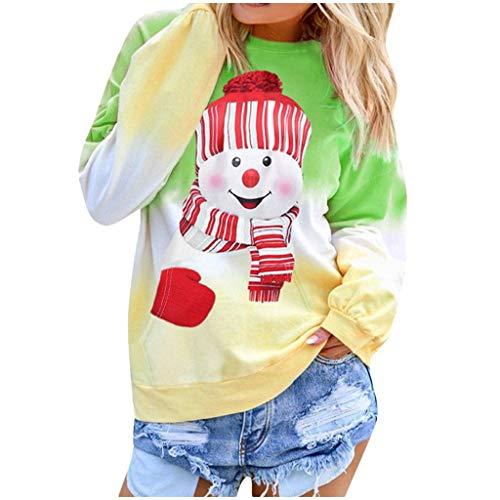 Alaso Femme Pulls de Noël Mode Xmas Sweat-Shirt Christmas Jumper Manches Longues Chaud Sweat à Capuche Hoodie Hiver