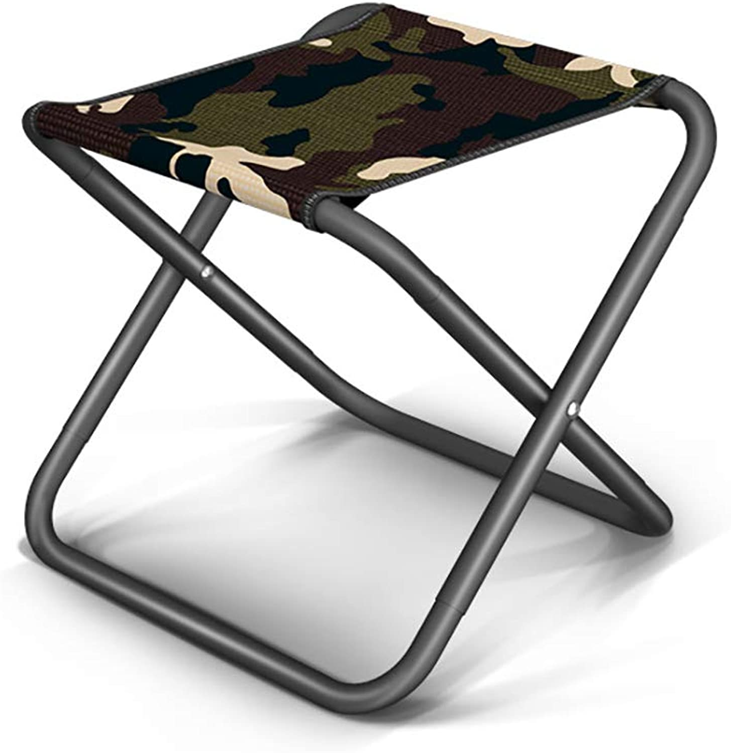 Aiwoxing Small Folding Camping Stool Ultralight PortableOutdoor Folding Chair Sketch Camp Chair Bench for Fishing Hiking Mountaineering Mini Step Slacker Stool + Carry Bag - Camouflage