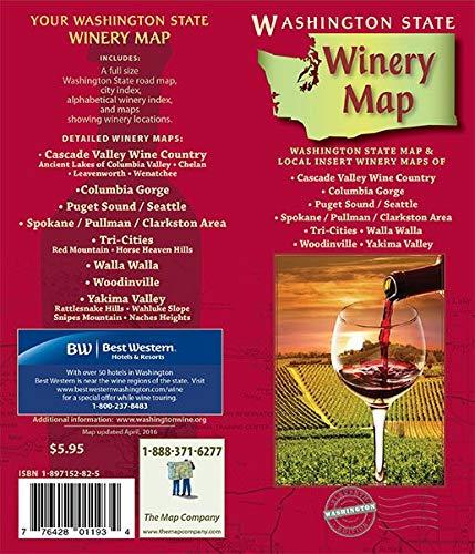 Washington Winery, Washington State Map
