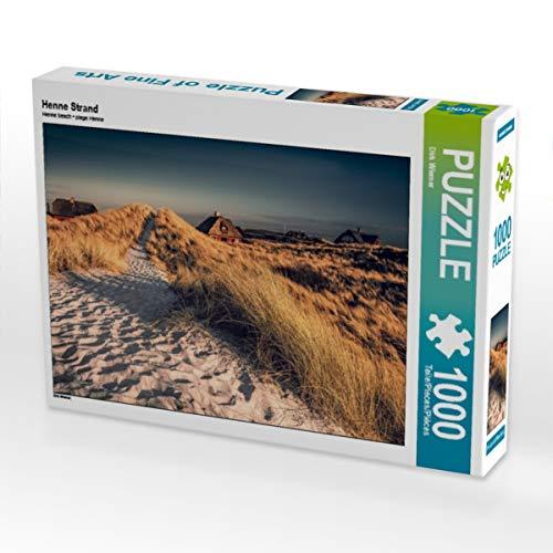 CALVENDO Puzzle Henne Strand 1000 Teile Lege-Größe 64 x 48 cm Foto-Puzzle Bild von diwiesign