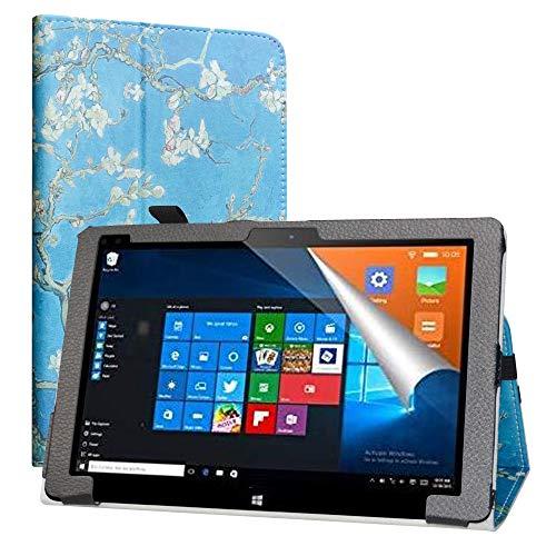 LiuShan Compatible con ALLDOCUBE iwork10 Pro Funda, Folio Soporte PU Cuero con Funda Caso para 10.1' ALLDOCUBE iwork10 Pro 2-in-1 Tablet PC,Almond Blossom