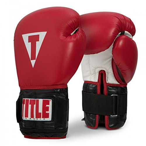 Title Boxing Classic Power Weighted Bag Gloves, Red/Black, Regular