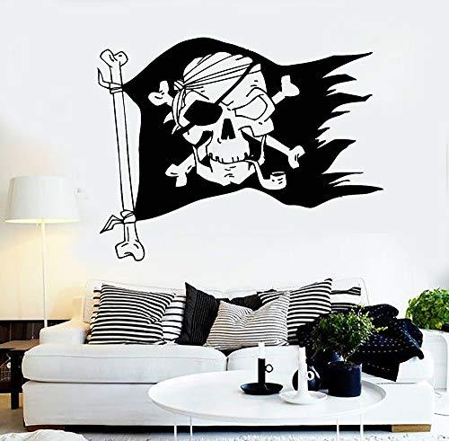 yaonuli piratenvlag piratenkbeensticker jongens slaapkamer afneembare vinyl wandtattoo Home Decoration
