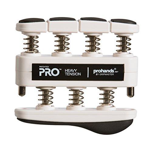 Prohands PRO Hand Exerciser, Finger Exerciser (Hand Grip Strengthener), Spring-Loaded, Finger-Piston System, Isolate and Exercise Each Finger, (9 lb Heavy Tension, Black-Pro)