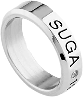 Kpop BTS Member Accessories Titanium Birthday Ring Necklace Hot Gift