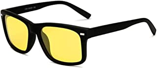 SGJFZD Outdoor Riding Glasses Windshield Sunglasses Mens UV400 Sports Mens Polarized Sunglasses (Color : Yellow)