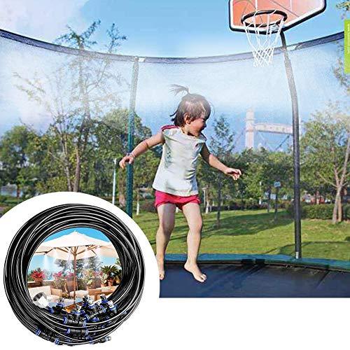 cheerfulus-1 Trampolin Sprinkler 29ft / 9m, Sprinkler Hinterhof Wasserpark,Draussen Trampolin Sprinkler Set für Kinder Jungen Mädchen, Spaß Sommer Draussen Wasserspiele Hof Spielzeuge