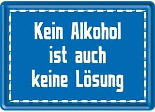 ディ・トーテン・ホーゼン Die Toten Hosen - Kein Alkohol ist auch keine Losung/ポストカード はがき (ブリキ製)
