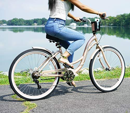 "514JOGYH5RL Kent 26"" Bayside Women's Cruiser Bike, Rose Gold"