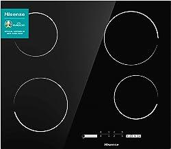 Hisense E6431C - Placa Vitrocerámica, 4 zonas, encimera de 60 cm, Bloqueo infantil, Resistente a los Arañazos, Terminación Biselada