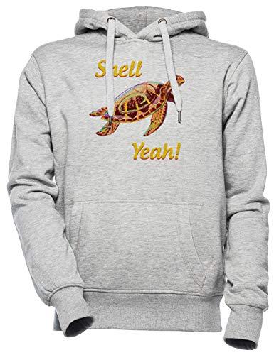 Shell Yeah Sea Turtle - Shell Yeah Unisexo Hombre Mujer Sudadera con Capucha Gris Unisex Men's Women's Hoodie