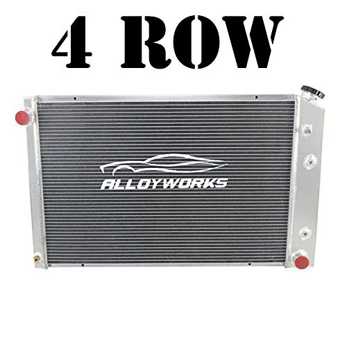 ALLOYWORKS 4 Row All Aluminum Radiator For 1973-1991 Chevy GMC C/K Series Pickup Trucks Blazer Jimmy Engine Cooling Parts
