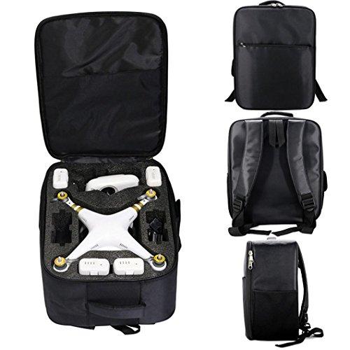 LCLrute Hohe Qualität Umhängetasche Rucksack Tasche für DJI Phantom 3S 3A 3SE 4A 4 4Pro (Schwarz)