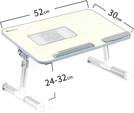 ポータブル朝食テーブルチルトトップ、折りたたみ式テーブルLapdeskテーブルベッドトレイ、ベッドの上のテレビディナートレイ、ソファ、6つの高さ調整、スタディテーブル (サイズ さいず : S s)