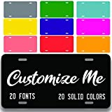 Custom License Plate for Front of Car | Custom Personalized Front License Plates | Custom Car Tags | 6 x 12 Inch Personalized License Plates for Front of Car | Car Tags | Made in USA