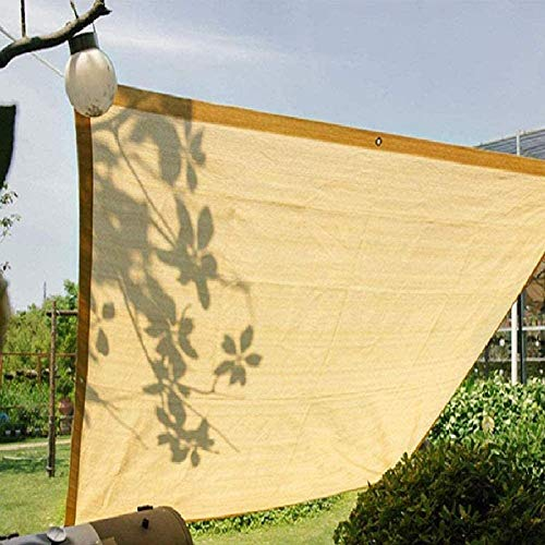 WXQIANG Sun Cubierta de la Cortina de la Vela por Pergola/Patio/toldo/Windows, Rectángulo Malla Canopy con Ojales, el 90% Bloqueador Solar y UV y Resistente, Beige Protección Solar, Aislamiento