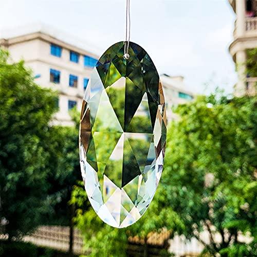 ZZLLFF 90mm Diamante Caballo Cristal Cristal HERRAMIENTO Piezas DIY Colgante Cristal PRISMS Pendiente Pendiente Inicio DE LA DORMA DE LA Boda Accesorios