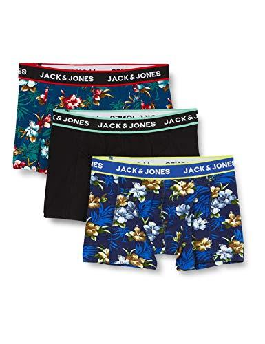 JACK & JONES Herren Boxershorts, Detail:Bardaboes Cherry - Maritime Blue Black, XL