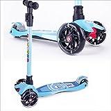 BAYTTER Kinderscooter Dreirad mit verstellbarem Lenker Kinderroller Roller Scooter für Kinder ab 3 4 5 Jahren, bis 75kg belastbar (Blau)