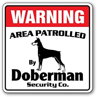 SignMission Doberman Security Decal Area Patrolled pet Dog Guard Owner Veterinarian Vet, 3 Pack of - 4
